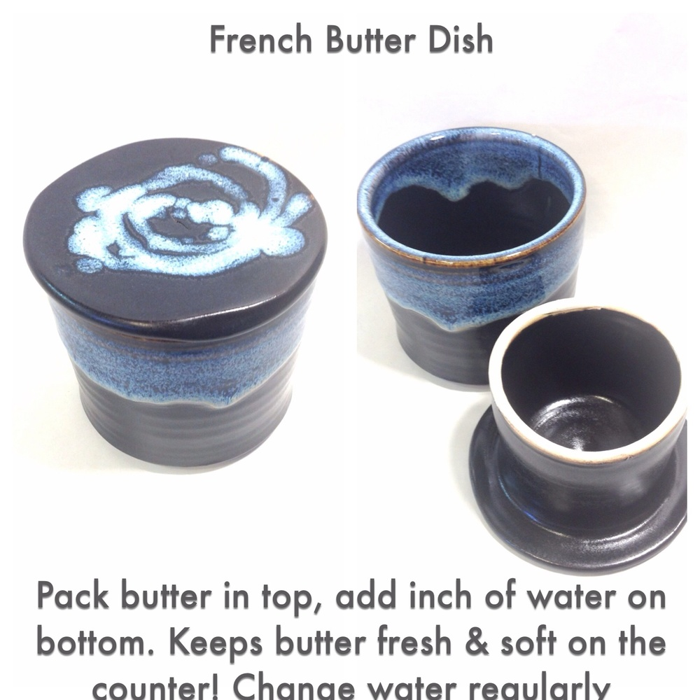 a94ddb1e6 One question we get asked a lot in the pottery shop is about the french  butter dish.