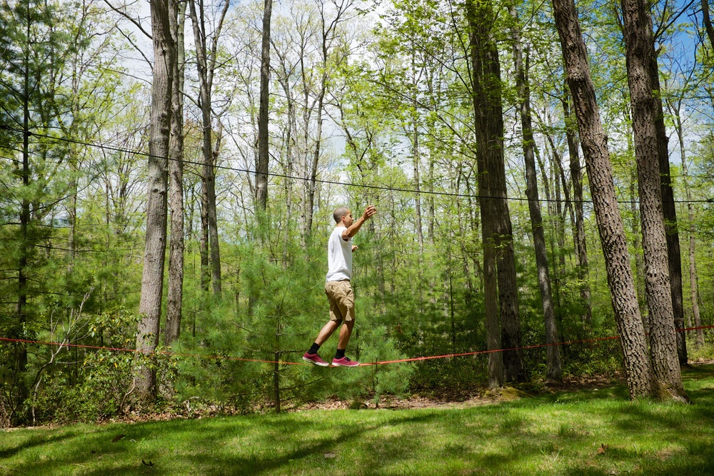 Angel Walking the Slack Line