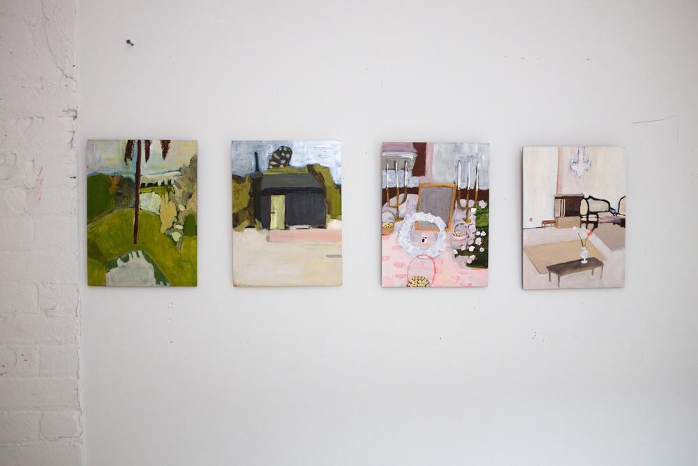 Negin Dastgheib Studio Paintings