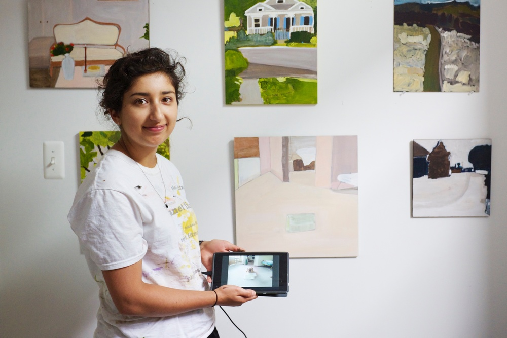Negin Dastgheib in Her Studio