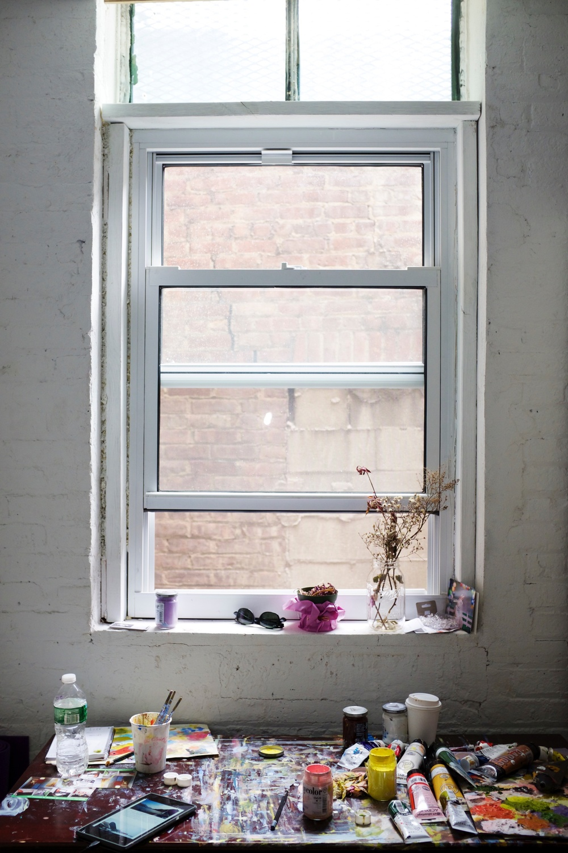Bushwick Painting Studio Window Desk