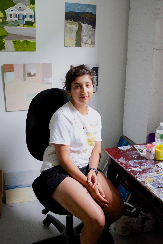 Negin Dastgheib Portrait in Her Studio