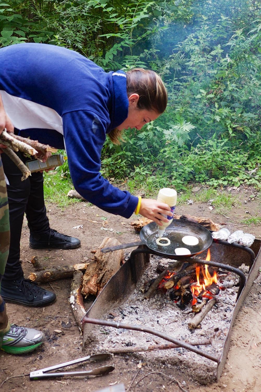 Campfire Cooking Pancakes Jenn Hurley