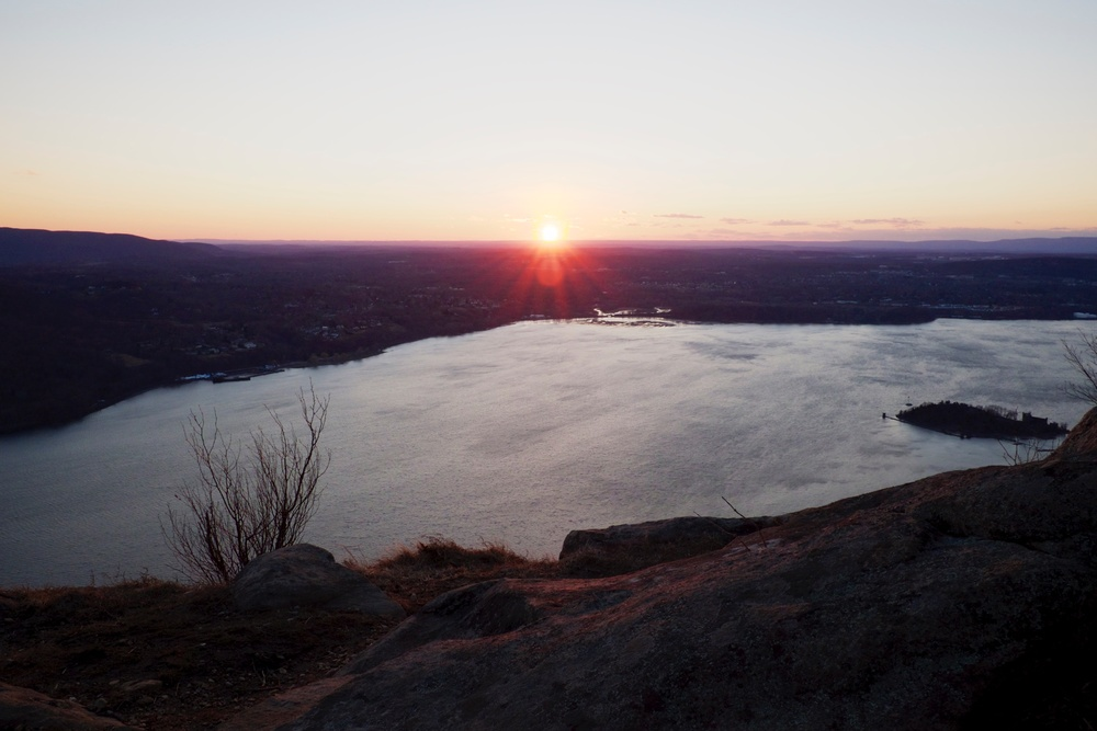 Sunset in Hudson Highlands Upstate NY