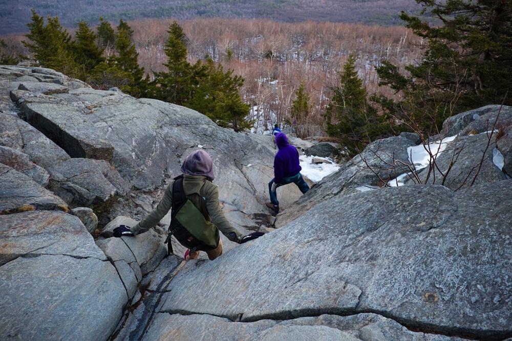 Steep Rocky Trail Mount Monadnock NH