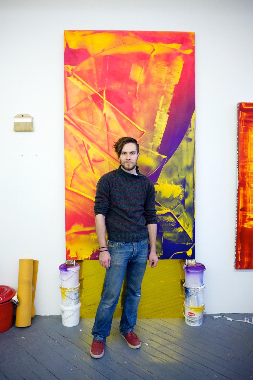 Chris Willcox Painting Portrait