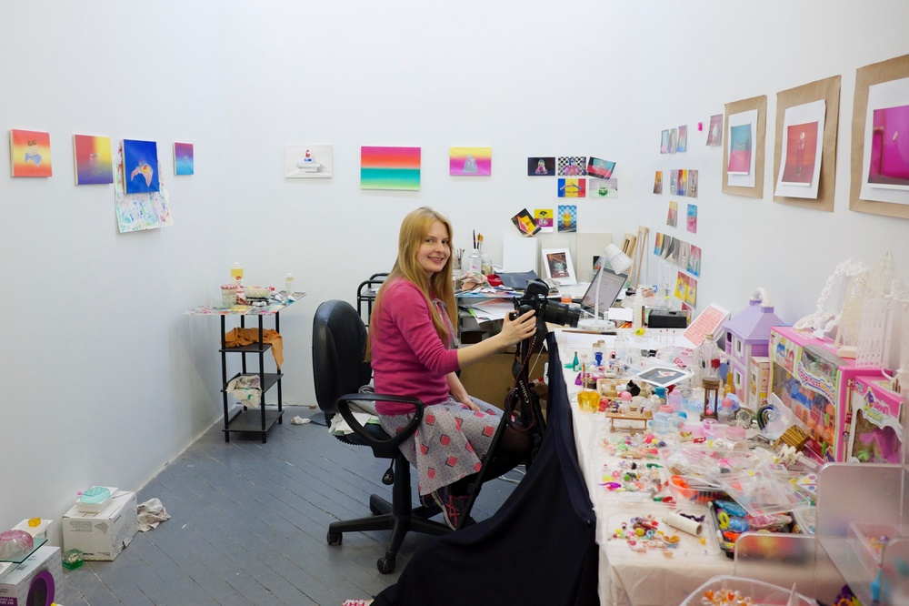 Emily is also busy getting ready for the show this weekend. Here's a peek at her new studio space!