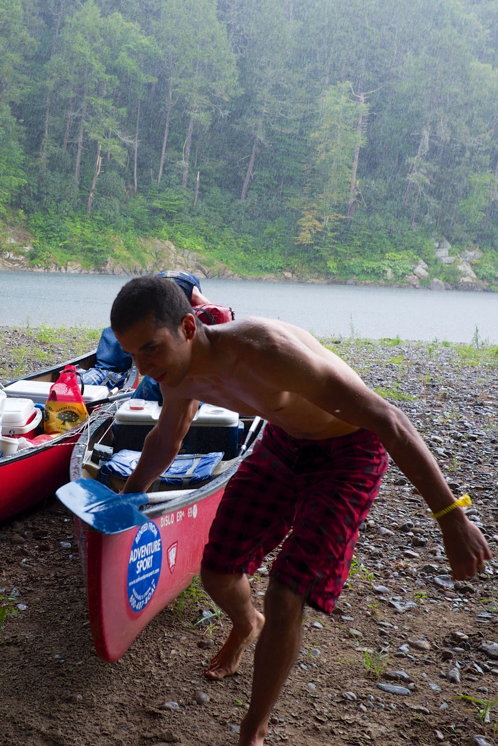 Angel Rodriguez Canoeing in the Rain