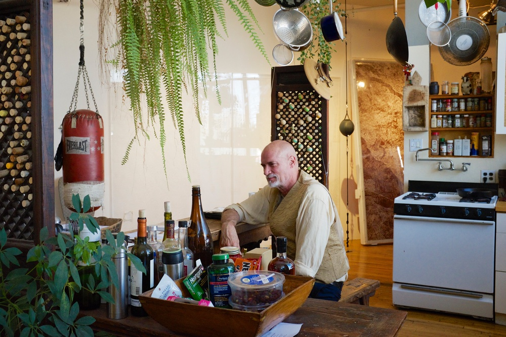 norton in His Bushwick Loft Kitchen