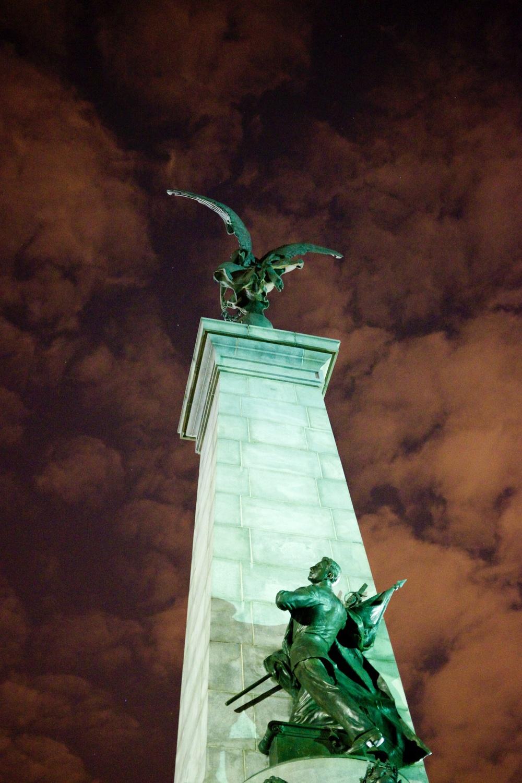 Tam Tams Angel Statue Mount Royal Montreal