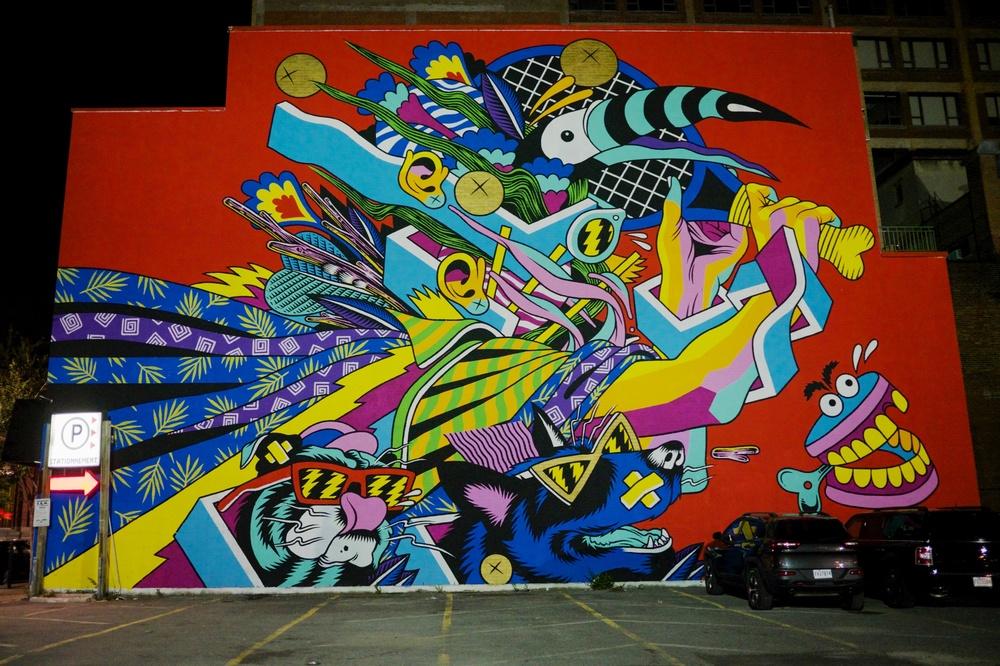 Boul St-Laurent Street Art Mural Montreal