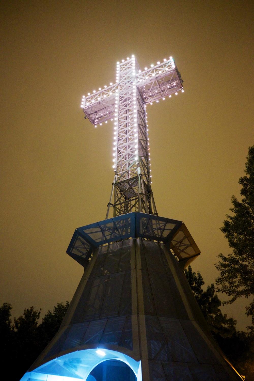 Montreal Nightlife Mount Royal Cross