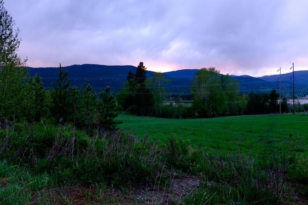 Sunset in Idaho Backcountry