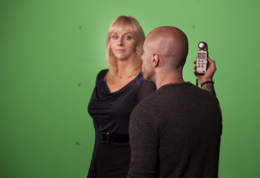 on set with Miriam O'Callaghan 2011