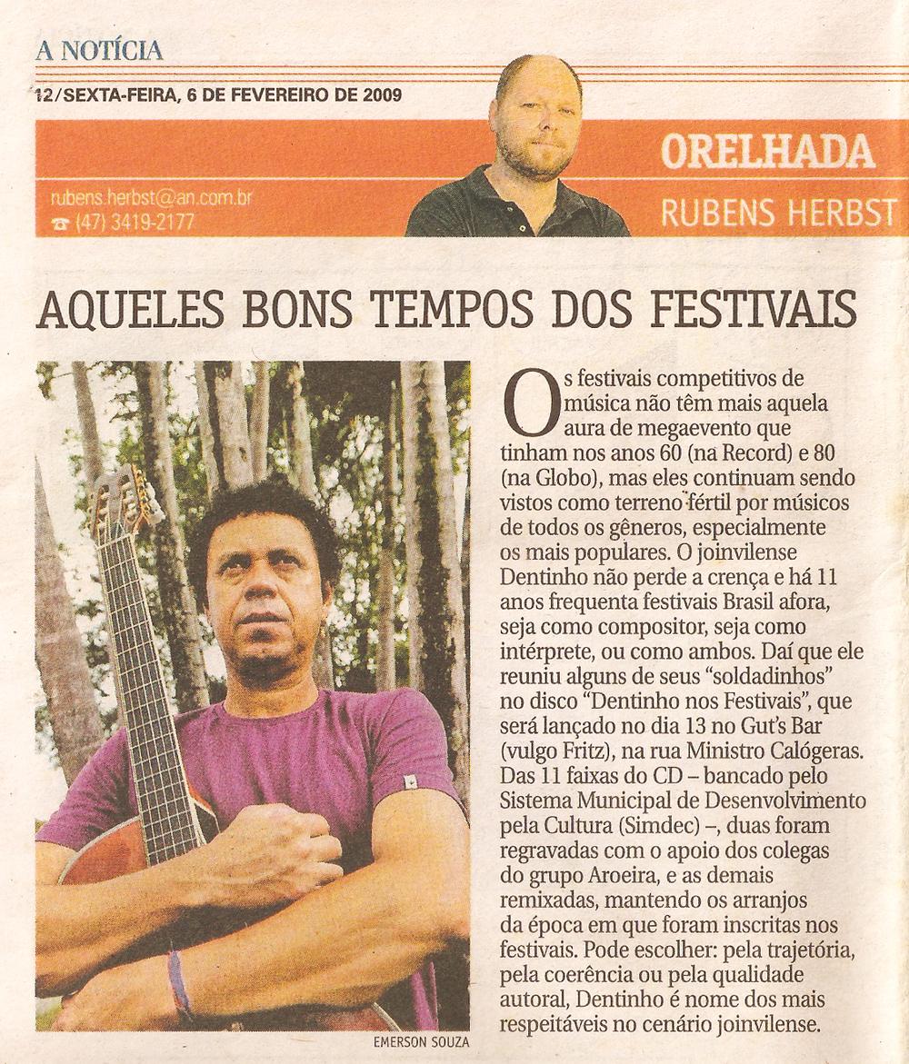 A Notícia - Orelhada - fevereiro 2009