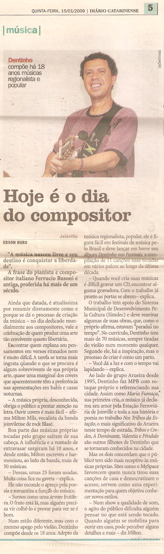 Diário Catarinense - janeiro 2009
