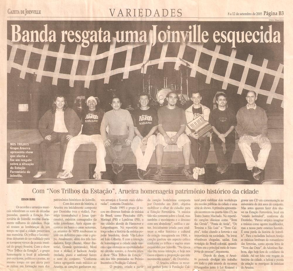 Gazeta de Joinville - setembro 2005