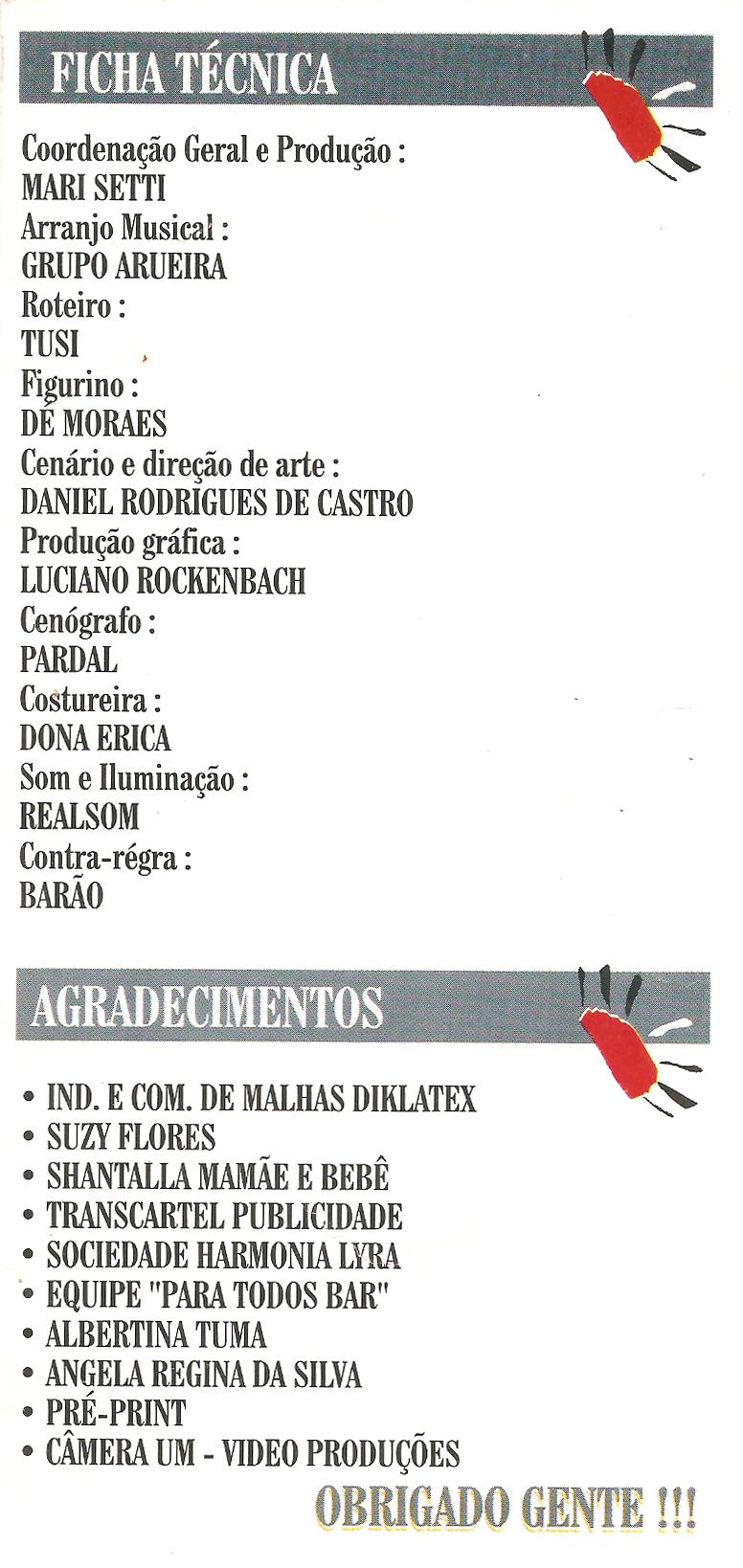 Show Noites Brasileiras- Harmonia Lyra - 1996