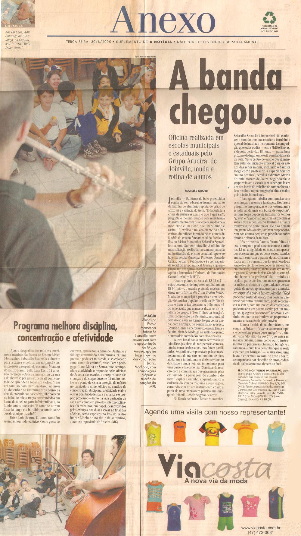 A Notícia - Anexo - agosto 2005