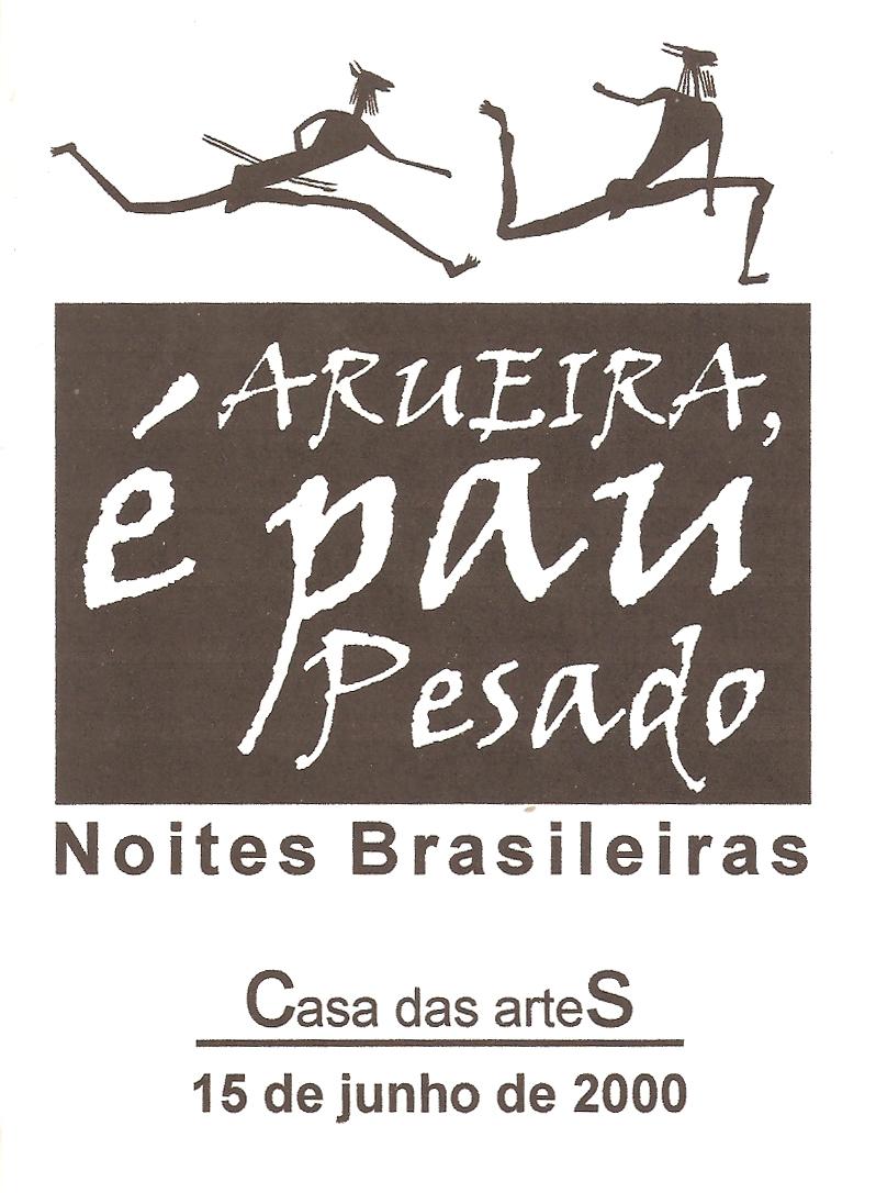 Capa programa show Noites Brasileiras - Casa das Artes - junho 2000