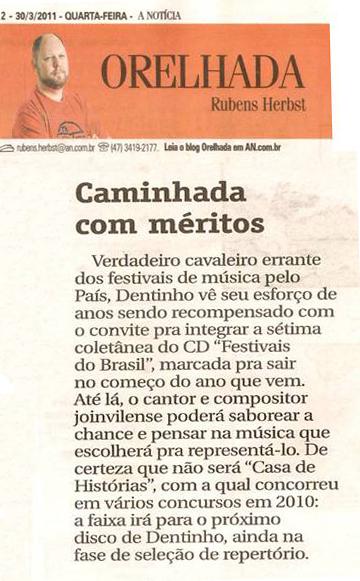A Notícia - Orelhada - março 2011