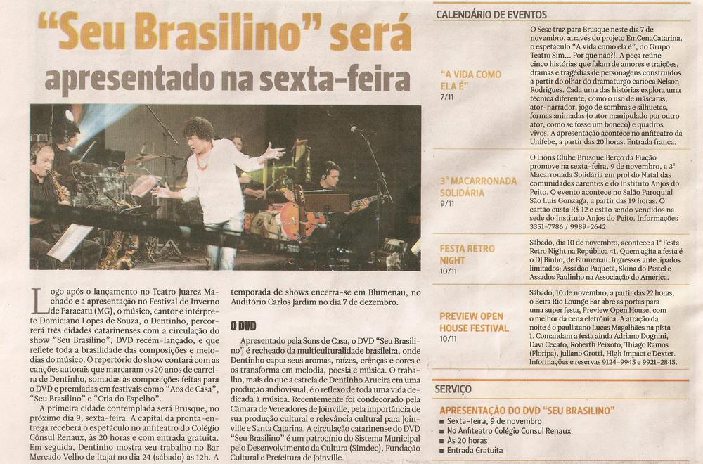 Jornal de Santa Catarina - outubro 2012