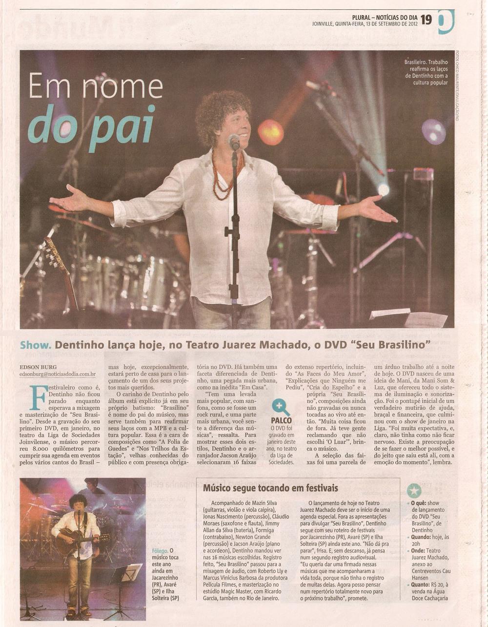 Notícias do Dia - setembro 2012