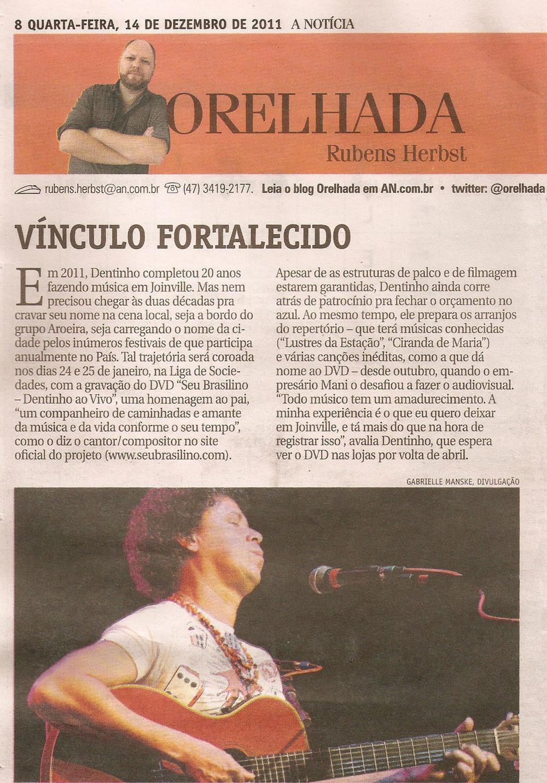 A Notícia - Orelhada - dezembro 2011