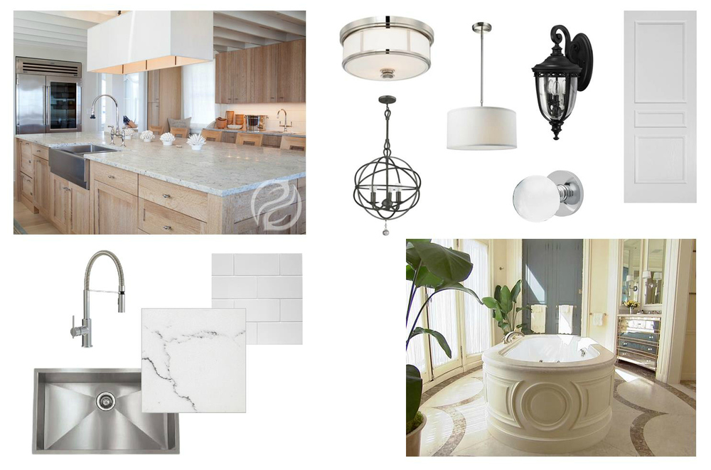 This inspiration imagery is attributed to vendor websites illustrating the quality materials for our projects.