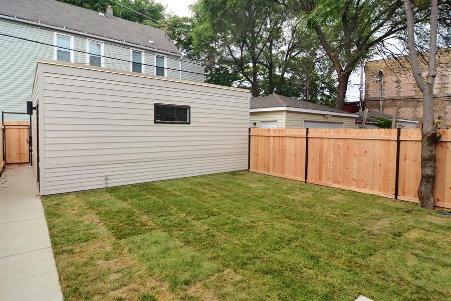 Garage and Backyard
