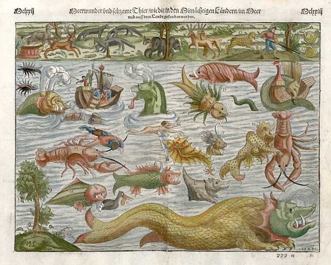 Munster's famous chart of sea monsters