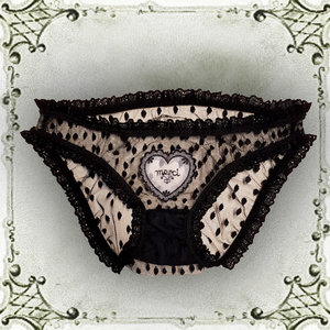 1960s English lace frilly highwaist knickers  slowpants edition 2. 48.00.  french-dot-lace-sheer-naughty-knickers-montparnasse-moulin- 688e29015