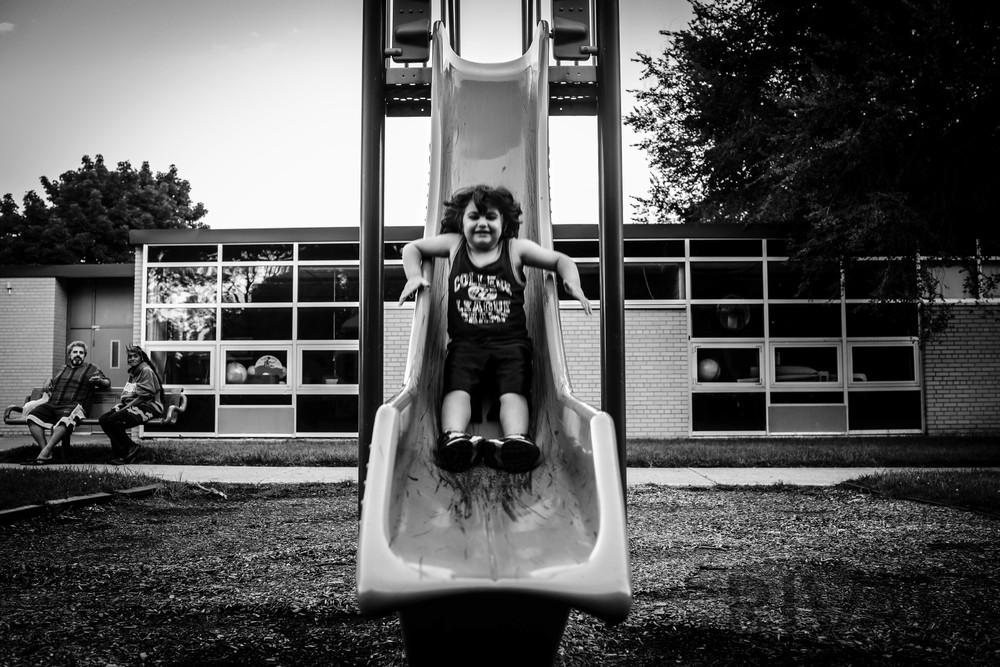KeenanRIVALS.com-Street-Photography-Slide-Downtown-Detroit-Lafayette-Park-Canon-6D-Rokinon-35