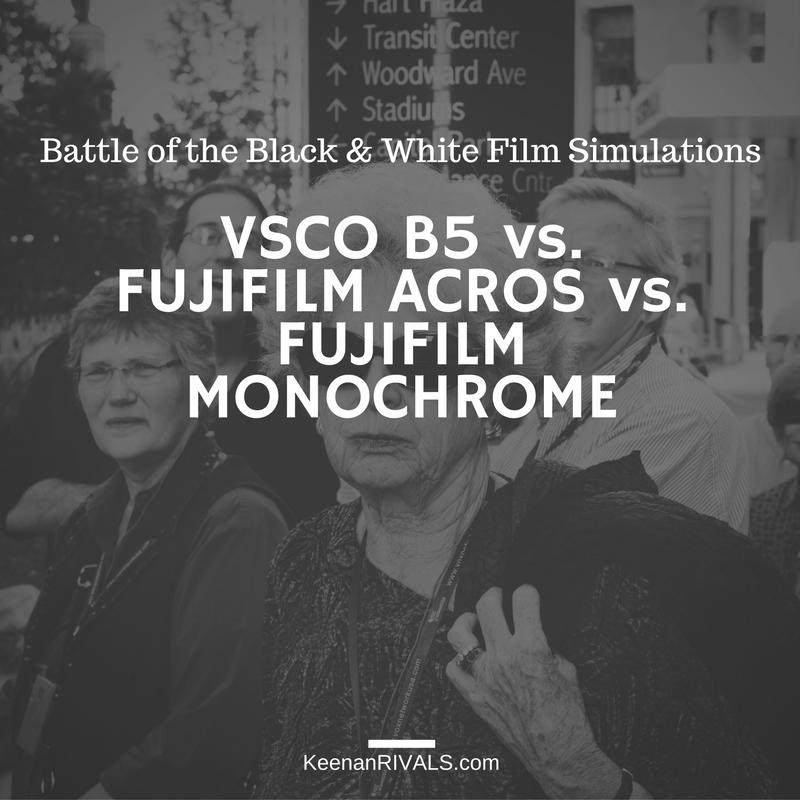 Battle of the Film Simulations: VSCO B5 vs Fujifilm Arcos vs