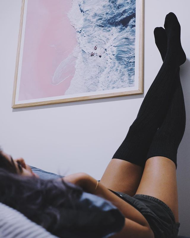 been slightly MIA because lazy winter hermit hibernation has fully settled into my being. also been loving the over-the-knee/thigh-highs @sockskick blessed me with. #nevergetcoldfeet. #ad.