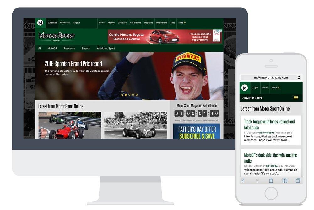 Motor Sport Magazine Redesign 3bweb