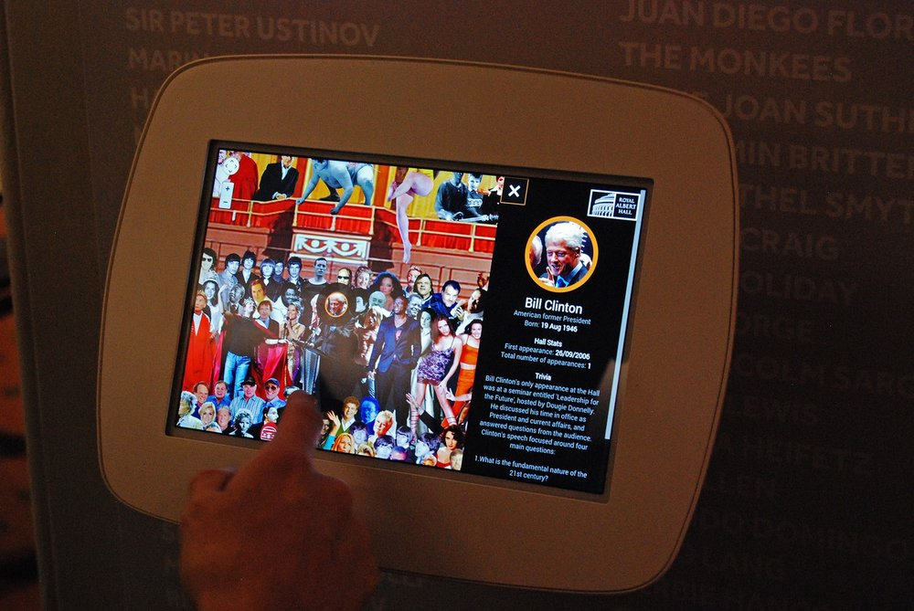 royal albert hall interactive display by 3bweb