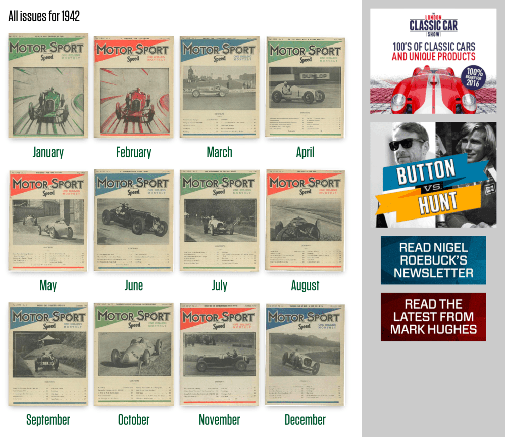 Motor Sport Magazine Archive view for 1942