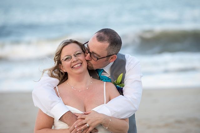 Sandy toes & salty kisses!! . . . #beachwedding #wedding #weddingphotographer #beach #ocmd #oceancitymd #weddingdress #love #youmaykissthebride #waves #nextwavestudios #professionalphotographer