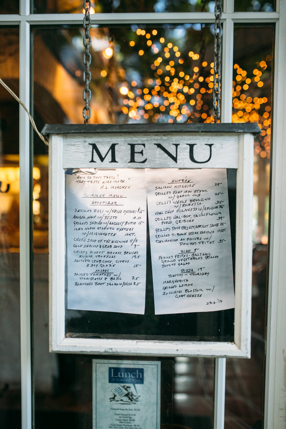 About Our Menu — Hamilton\'s Grill Room