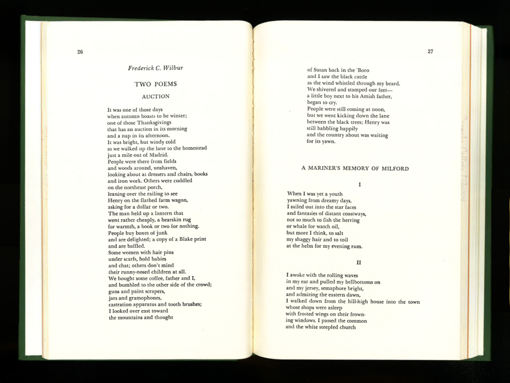 By Frederick C. Wilbur - from Roanoke Review, Fall 1968