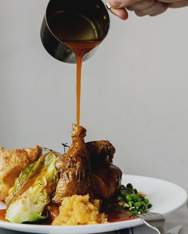 If you've room for anything other than chocolate this Easter Sunday, why not try our Roast Chicken with Yorkshire pudding, grilled truffle cabbage, swede mash and creamed seasonal vegetables?