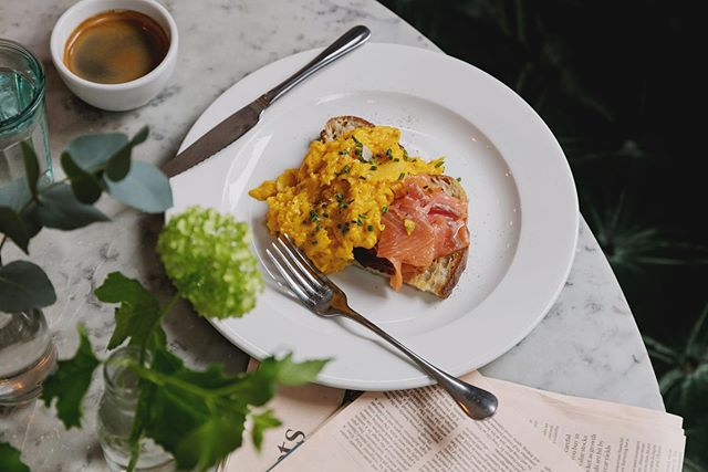 Easter Sunday is fast approaching. If you're looking for a way to celebrate with family and friends, why not come here for a delicious breakfast?  Pictured: Scrambled Eggs & Smoked Salmon with chives on sourdough toast