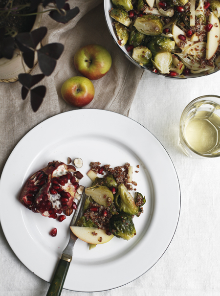 Roasted Brussel Sprouts and Apple Salad