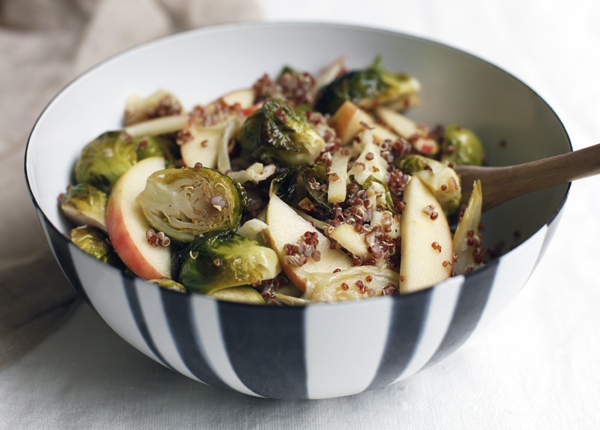 Roasted Brussel Sprouts and Apple Salad — The Jewels of ...