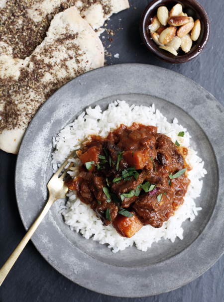 Spiced Lamb Stew with Zaatar Bread