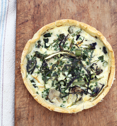 Spring Quiche with Pickled Radish