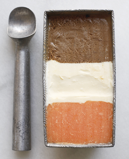 Neapolitan Ice Cream with Citrus, Mascarpone & Coffee