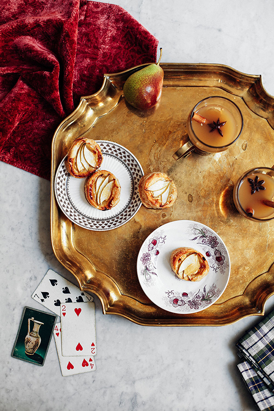 Apple Tarts and Ginger Apple Pear Cider for Lonny Magazine