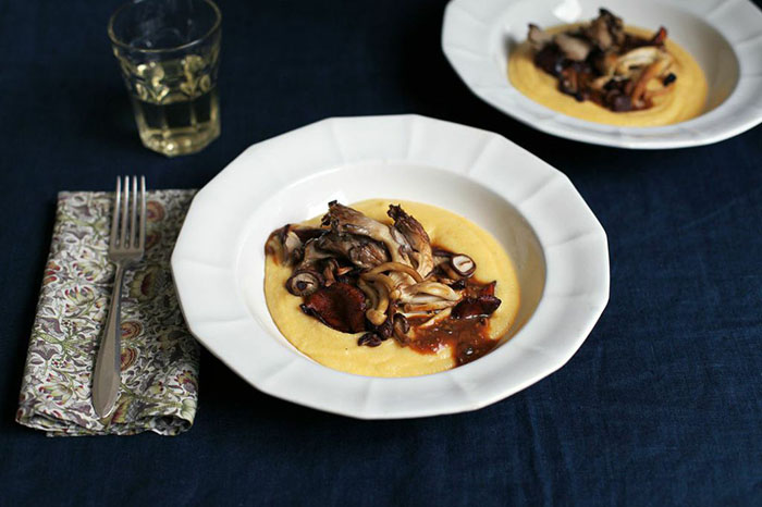 Wild Mushroom Polenta with Porcini Sauce @jewelsofny